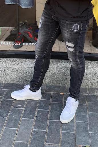 Dark Grey Destroyed GHOST Jeans