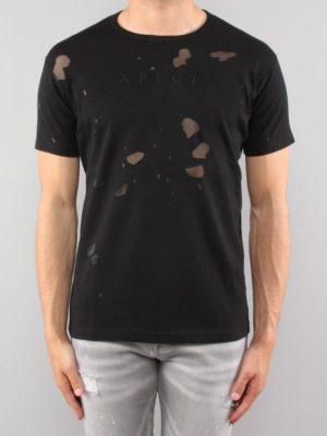Black United Tee XPLCT - gescheurd shirt in het zwart