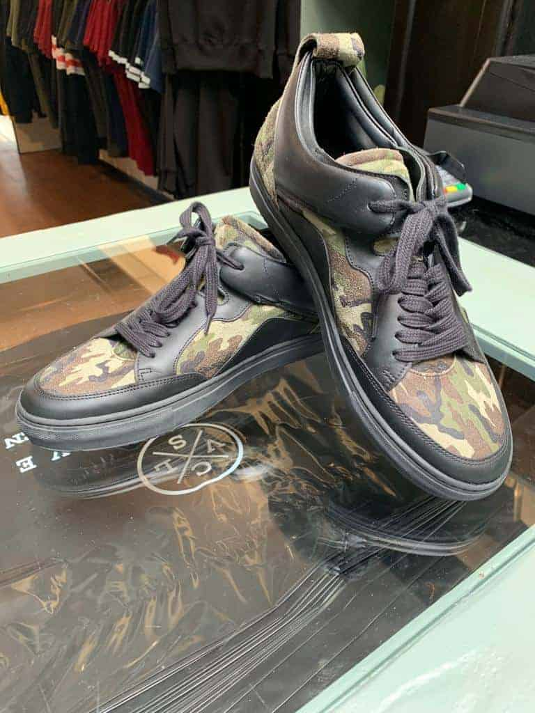 luzerno sneakers black and camo