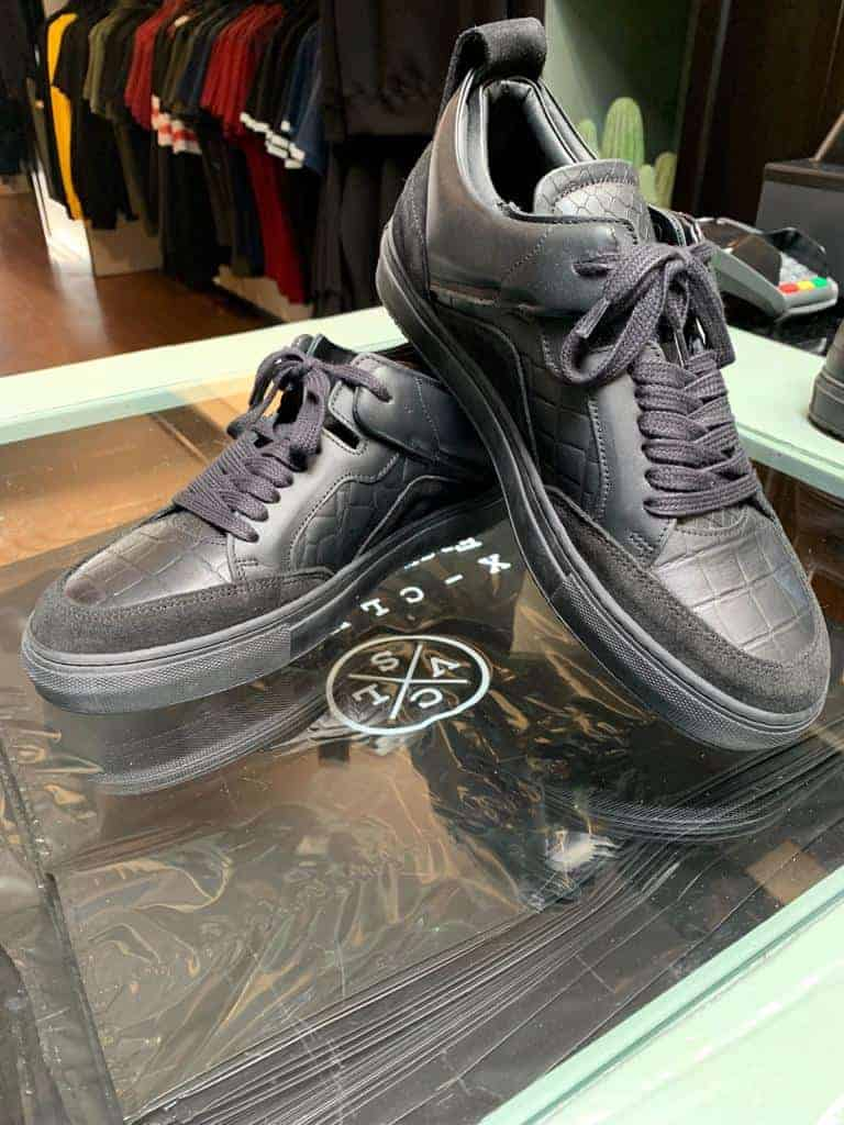luzerno black leather sneakers