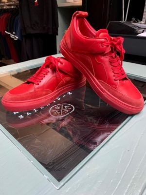 luzerno sneakers red leather