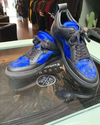 luzerno sneakers black and blue