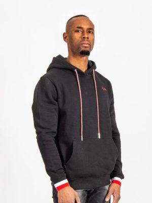 Black France Hoodie XPLCT - zwarte hoodie met aansluitende boorden