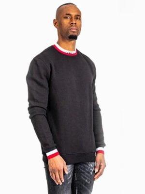 Black Ami Sweater XPLCT - zwarte trui met aansluitende boorden