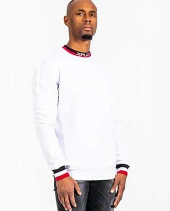 White Ami Sweater XPLCT - witte trui met aansluitende boorden