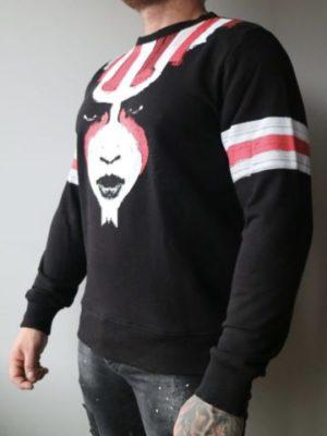 Black Tribes Sweater GHOST - zwarte trui met grote afbeelding van een vrouw