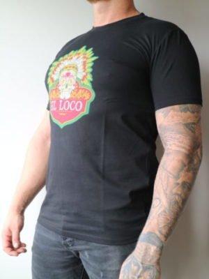 Black El Loco Tee Ekiwa - zwart shirt met grote afbeelding