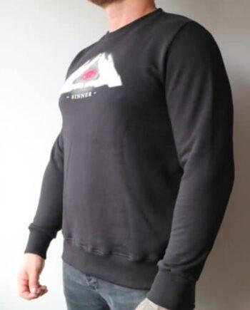 Black Ghost Sweater Sinner - zwarte trui met een afbeelding midden bovenin