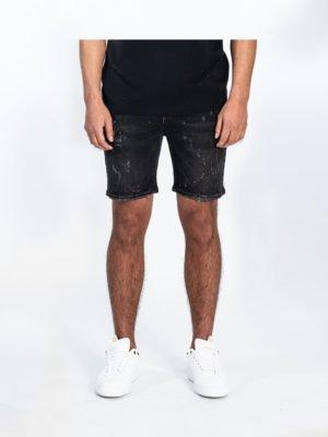 Black Lewis Short Jeans - korte zwarte spijkerbroek