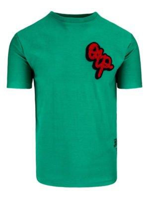 Green Pitchers Tee OTP - groen shirt met grote afbeelding op achterkant