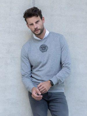 Grey Rotondinos Sweater Black & Gold