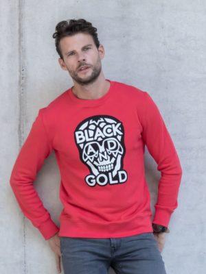 Red Biglogos Sweater Black & Gold