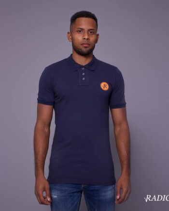 Radilo orange/navy polo radical
