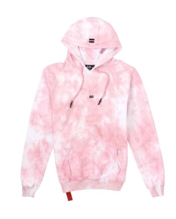 Afbeelding van voorkant wit met roze hoodie van het merk AH6