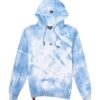 Afbeelding van voorkant wit met blauwe Hoodie AH6