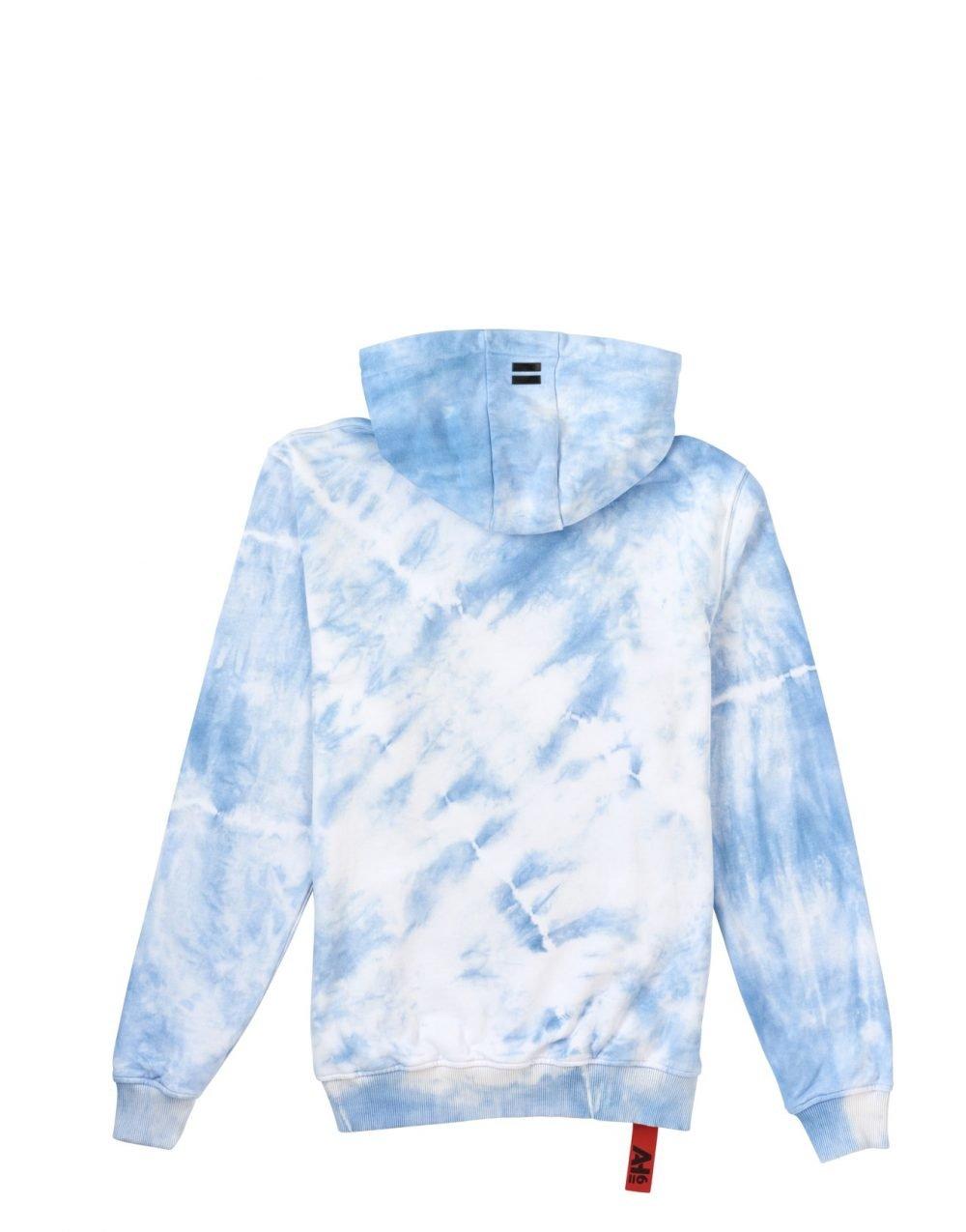 Afbeelding van blauw met witte Hoodie van het merk AH6