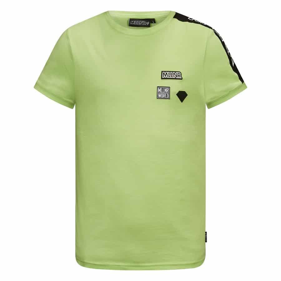 Groene MLLNR Rocco shirt met embleems op borst