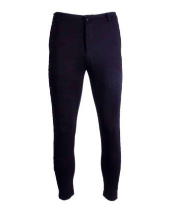 Afbeelding van voorkant zwarte Chino broek
