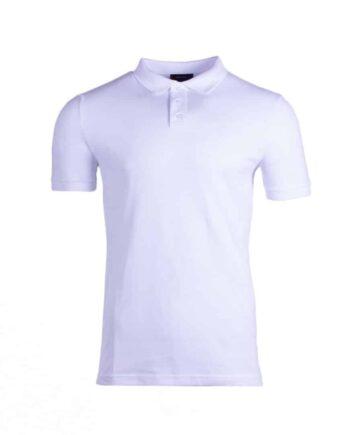 Afbeelding van voorkant white polo shirt van Radical