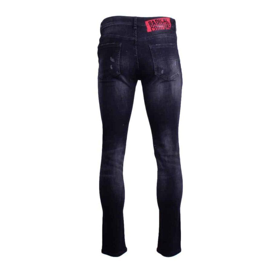 Afbeelding van achterkant zwarte Radical jeans