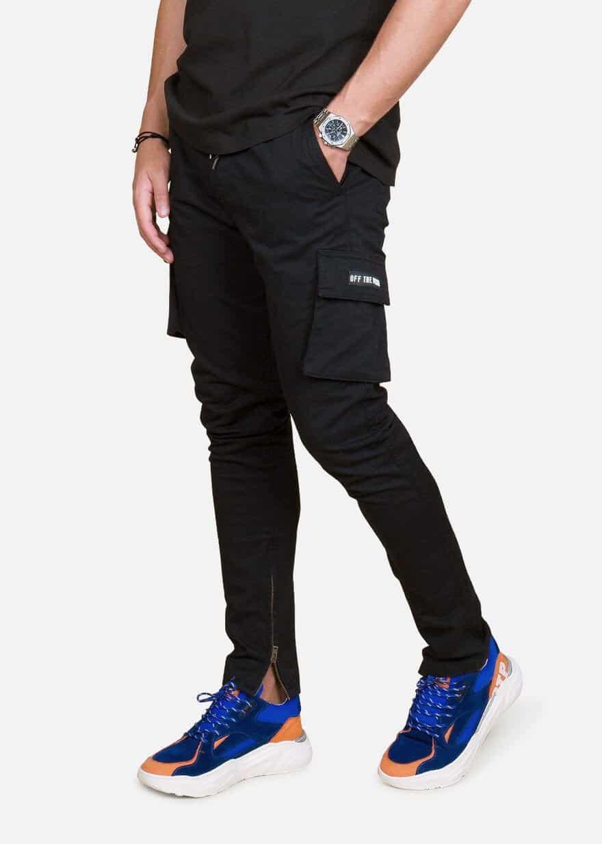 Black Cargo Cult Pants - zwarte cargo broek van Off The Pitch