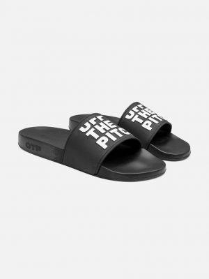 Slide Off Black OTP slippers - zwarte kleur slides