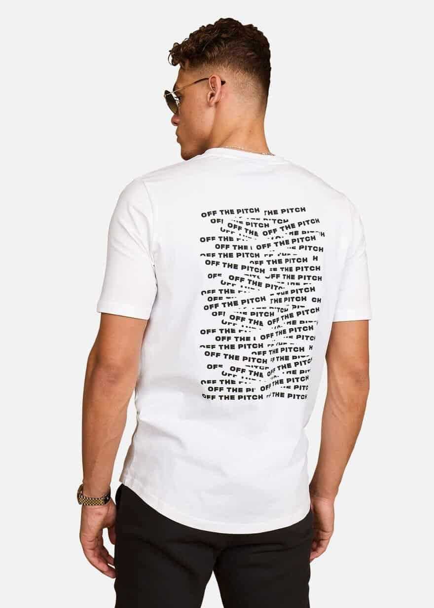 Reborn Labelgun White - wit t-shirt met zwarte opdrukken