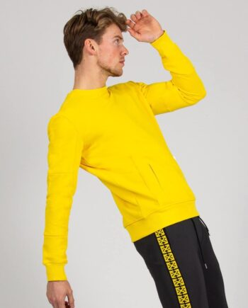 Yellow Steve Sweater XPLCT - gele trui met crewneck