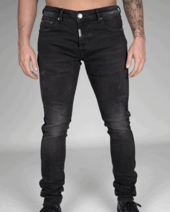 Black Stretch Taped Jeans - Zwarte spijkerbroek AB Lifestyle