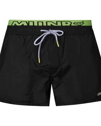 Black Kiano Swimshort MLLNR - zwart met gele zwembroek