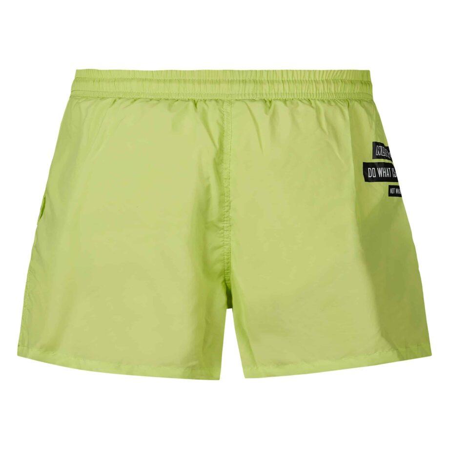 MLLNR Green Liam Swimshort - groene zwemshort met zwarte embleems