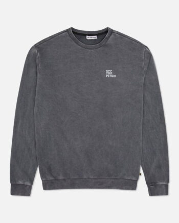 Grey Rebel Sweater Off The Pitch - grijze trui gewassen look