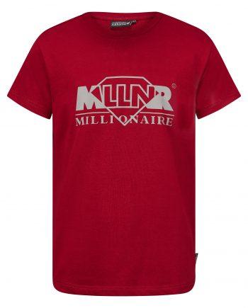 Red Judah Tee MLLNR - rood t-shirt met logo on front
