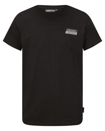Black Pablo Tee MLLNR - zwarte shirt met logo op borst MLLNR