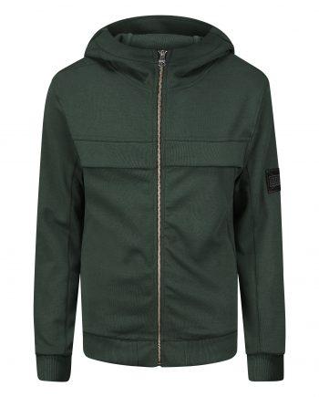 Green Esteban Vest MLLNR - groen vest met capuchon en ritssluiting
