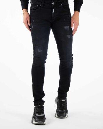 Richesse Black Mantera Jeans - zwarte spijkerbroek met scheuren en lichte wassing