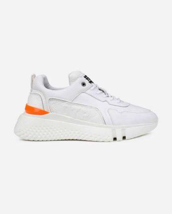 White Treble Runner OTP - wit met oranje sneaker Off The Pitch