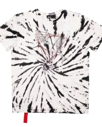 AH6 Tattoo Bird Tie Dye Tee Black/White