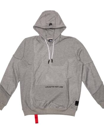 Grey Inside Out Hoodie