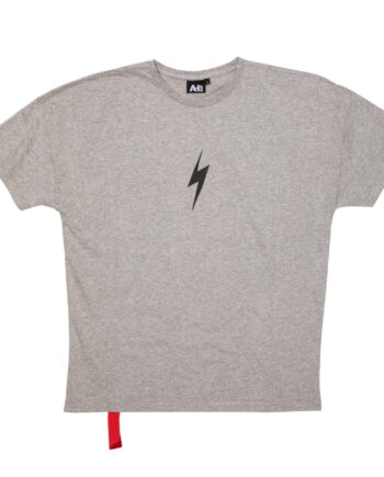 AH6 Grey Lightning Bolt Rockstar Tee