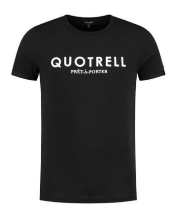 Quotrell Black Basic Tee - zwart shirt met logo in witte letters