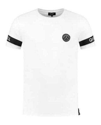 Quotrell White Sergeant Tee - wit met zwart shirt