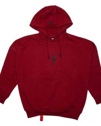 Dark Red Lightning Bolt Rockstar Hoodie