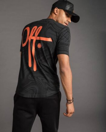 OTP Black Self Tee - zwart met oranje Off The Pitch T-shirt