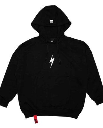 Black Lightning Bolt Rockstar Hoodie