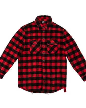 Red Check blouse van AH6 - rode met zwarte geruit shirt