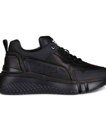 OTP Black Treble Runner - zwarte lederen sneakers van Off The Pitch