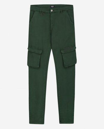 Green cargo pants van Sustain - groen broek met cargo zakken