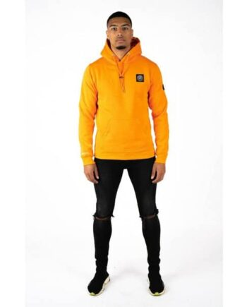 Orange Commodore Hoodie Quotrell - oranje trui met capuchon