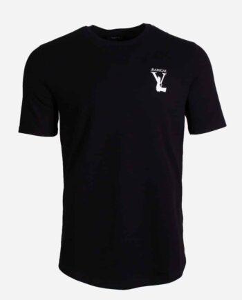 Black Elio Gun Tee - zwart shirt met wapen op borst van Radical
